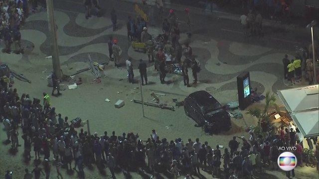 В Рио-де-Жанейро автомобиль влетел в толпу отдыхающих: 15 раненых