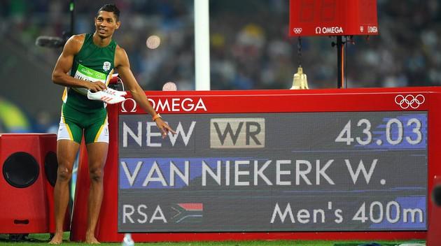 Рио-2016: Уэйд ван Никерк побил мировой рекорд Джонсона на 400 м