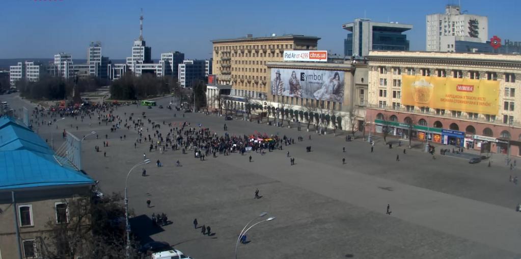 В Донецке и Харькове сепаратисты вышли на митинг