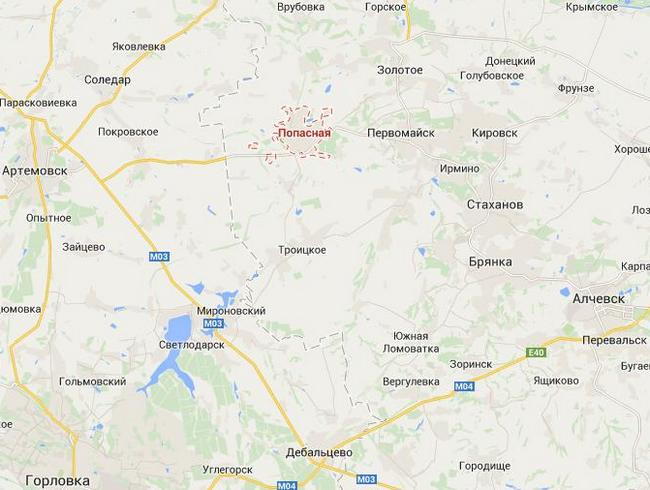 Боевики из Первомайска обстреливают Попасную