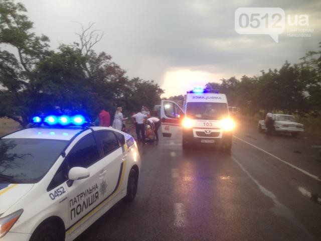 На трассе под Николаевом совершено нападение на автомобиль: фото