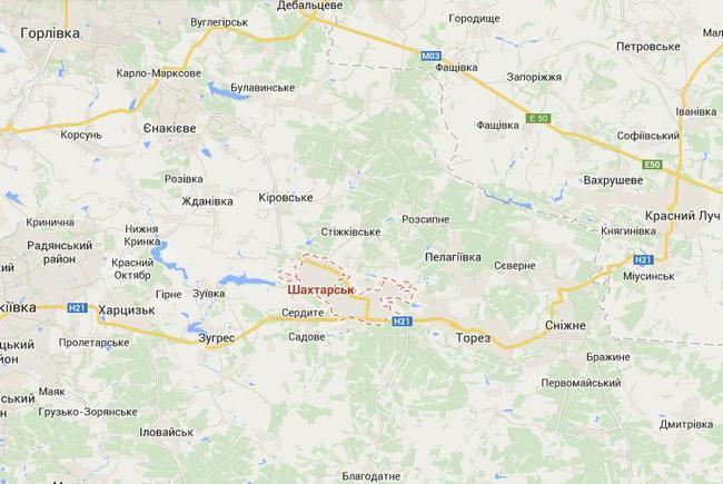 Силы АТО блокируют боевиков в районе Шахтерска и Красного Луча