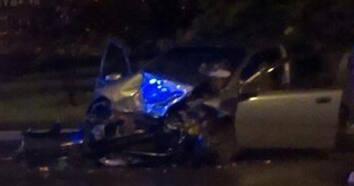 В Донецке водитель такси погиб в ДТП с боевиками: фото