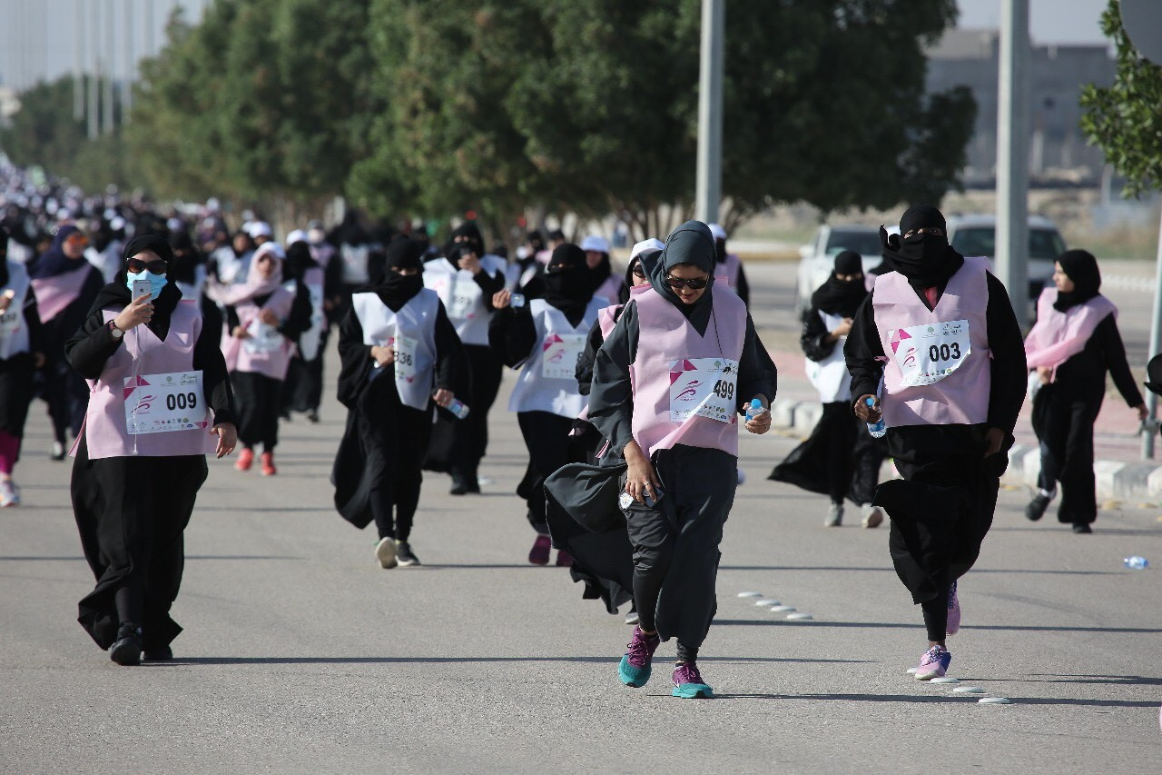 В Саудовской Аравии впервые прошел женский марафон