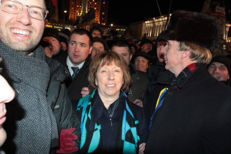 Представитель Евросоюза Эштон приехала на Майдан