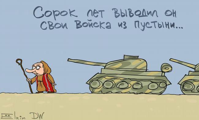 Вторая попытка вывести военных РФ из Сирии: карикатура Ёлкина