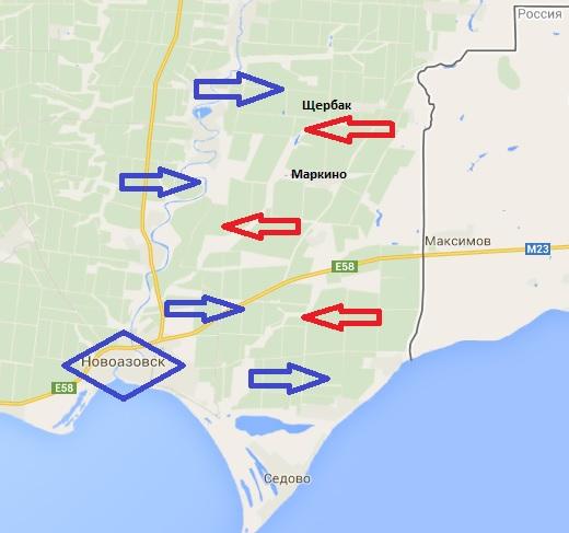 В штабе АТО подтвердили вторжение армии РФ в районе Новоазовска