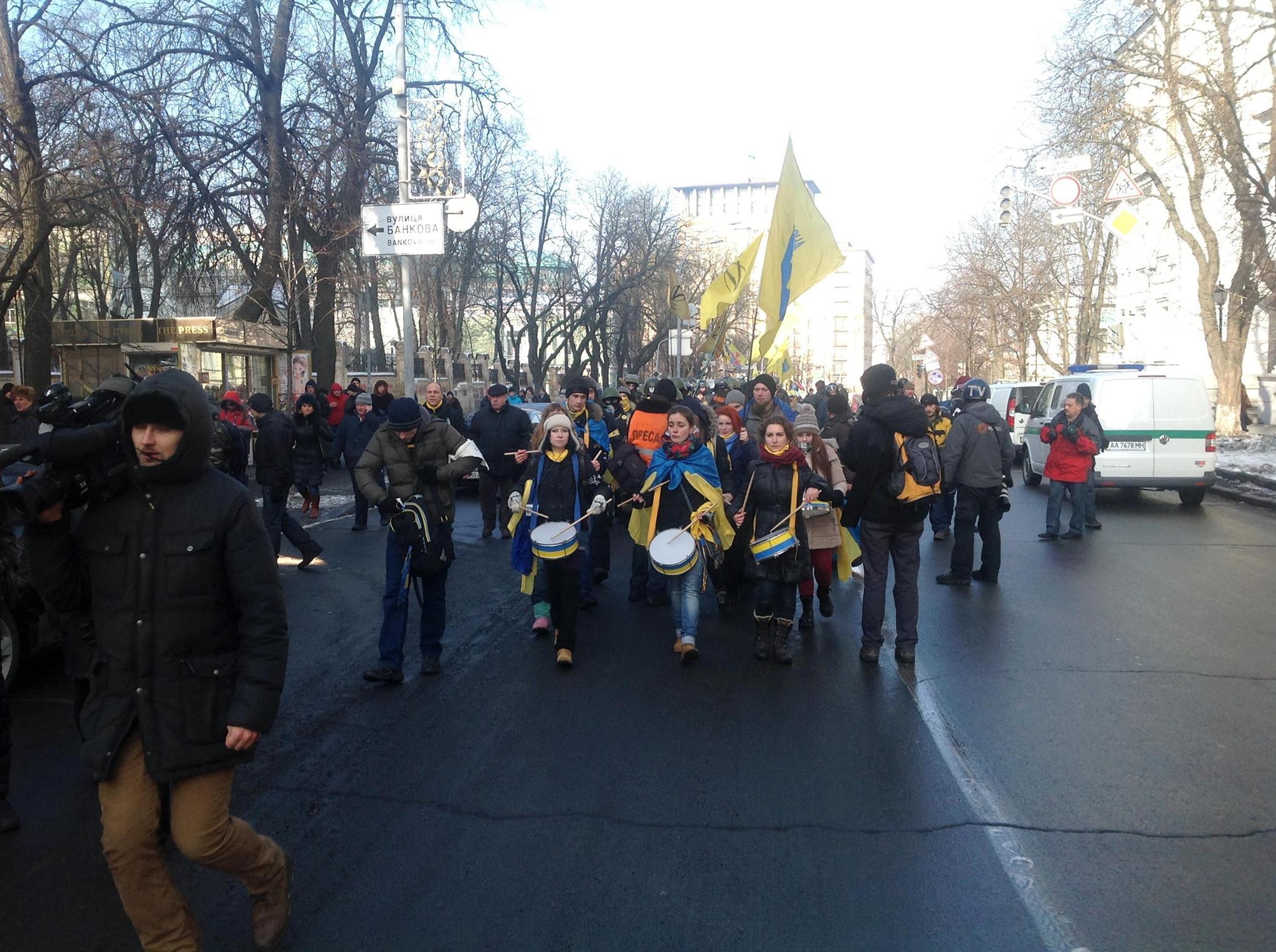 Активисты Майдана пошли пикетировать Верховную Раду