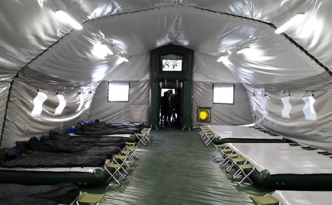 Аваков показал палатки нового поколения для военнослужащих