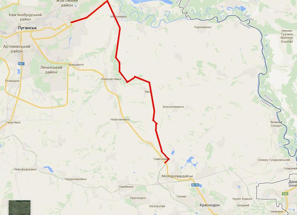 Луганск объездными путями