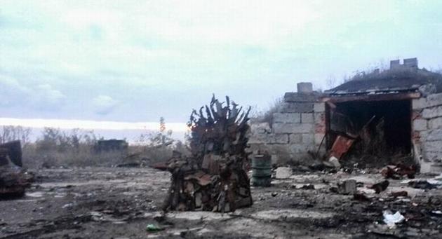 Бойцы АТО сделали железный трон Игры престолов: фото