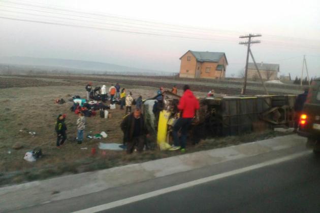 ВоЛьвовской области автобус стуристами попал вДТП: есть погибшие
