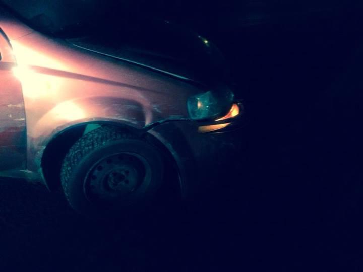 Преступники таранили машину Чорновол: фото, видео авто