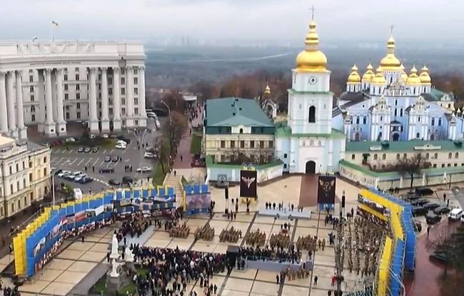 Первый украинский День десантника: торжества в Киеве - видео
