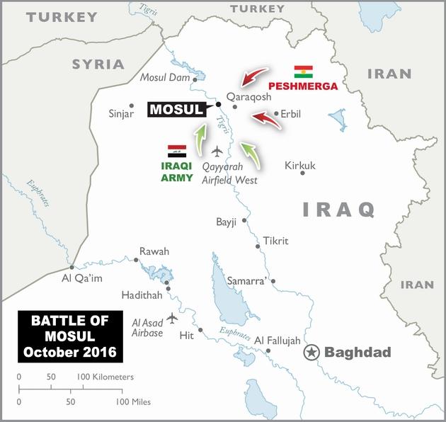 Разведка иракского спецназа узнала число боевиков ИГ в Мосуле
