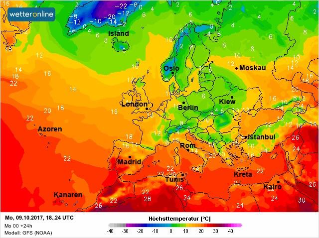 Ночь на 10 октября в Украине будет очень холодной - карта