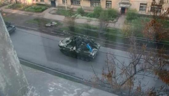 В Краматорск вошла украинская военная техника