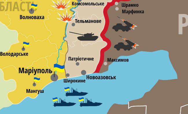 Через Новоазовск из РФ боевикам поступает тяжелая техника - ИС