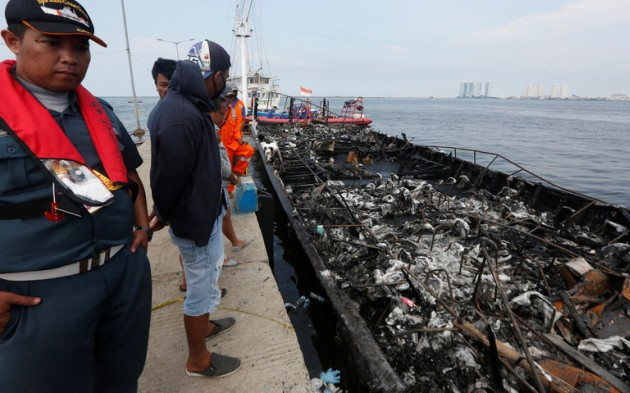 Пожар напароме вИндонезии: большое количество жертв