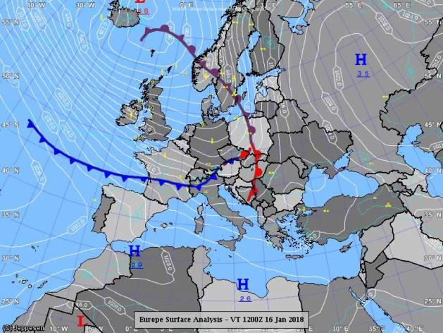 Синоптики предупреждают о перепадах давления и снегопадах: карты