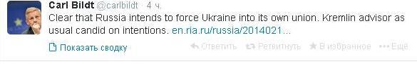 Россия хочет затянуть Украину в Таможенный союз - Бильдт