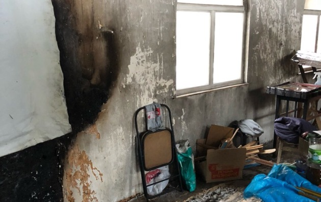 В Киеве неизвестные ночью подожгли деревянную часовню УПЦ МП