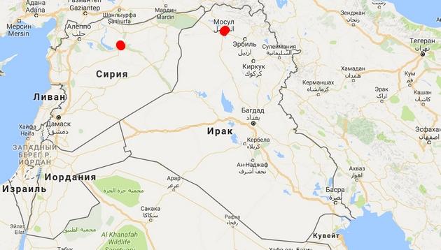 """Силы коалиции атакуют """"столицу"""" ИГ в Сирии еще до взятия Мосула"""