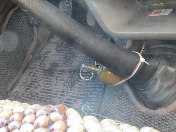 В Бердичеве полиция обезвредила растяжку в микроавтобусе: фото