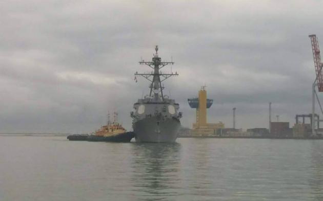 В порт Одессы прибыл американский эсминец: фото