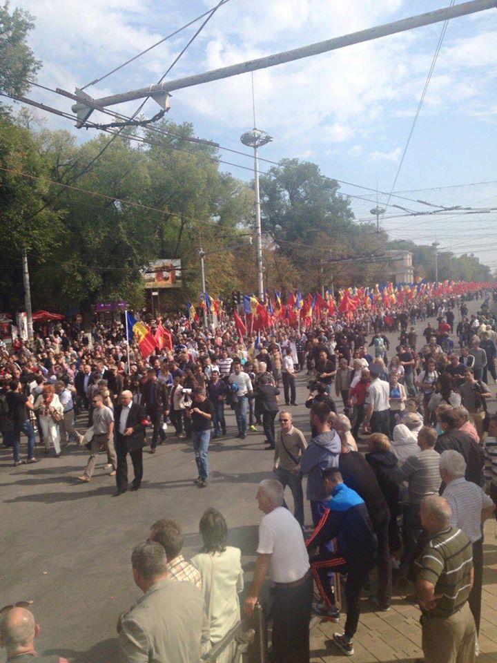 Пророссийские партии вышли на протесты в Молдове: фото