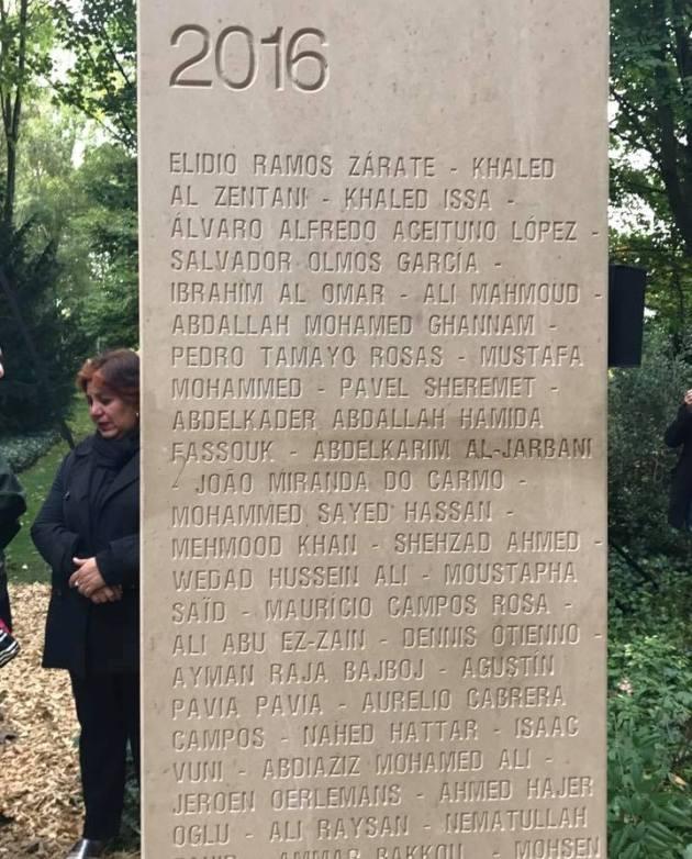 Во Франции открыли стелу мемориала журналистам с именем Шеремета
