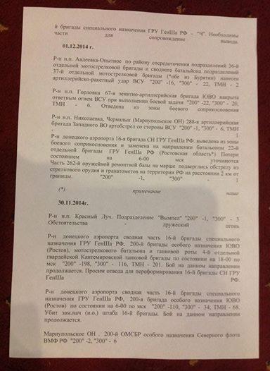 У Генштаба ВСУ есть отчеты военных РФ о крупных потерях в Донецке