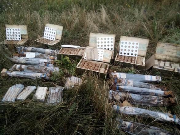 В Днепропетровской области найден крупный тайник с оружием: фото