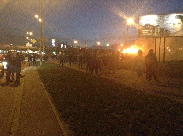 В Киеве на месте застройки произошли столкновения
