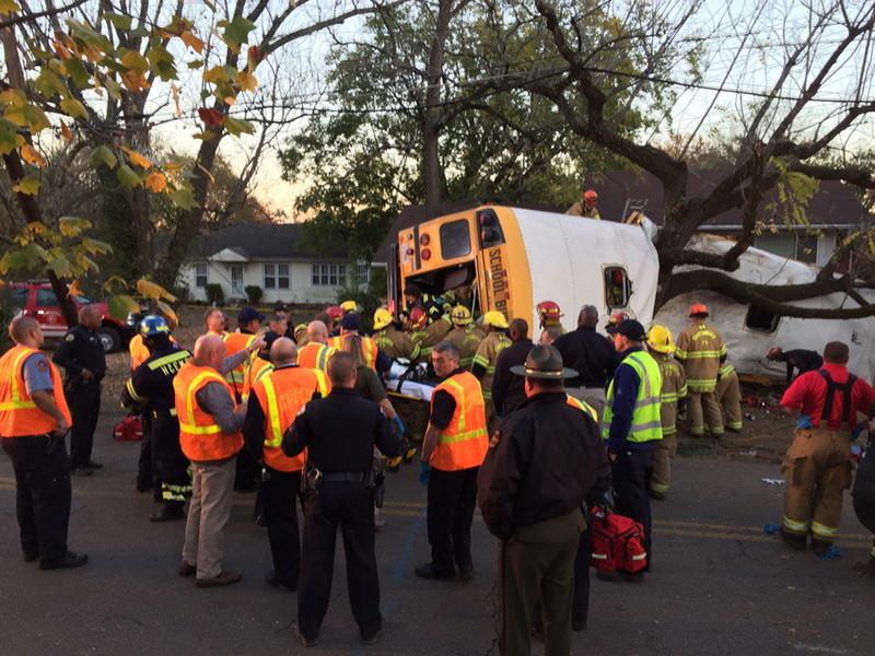 В США школьный автобус влетел в дерево, погили шесть детей: фото