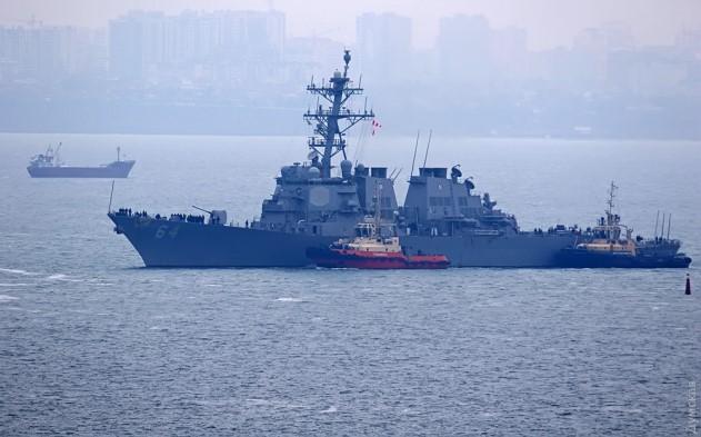 Водесский порт зашел американский эсминец