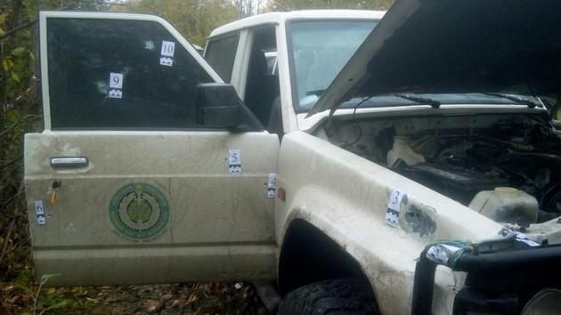 Обнародован снимок изрешеченного пулями авто Окуевой: фото