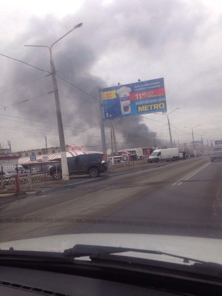 В Харькове горит крупнейший рынок Барабашово: фото