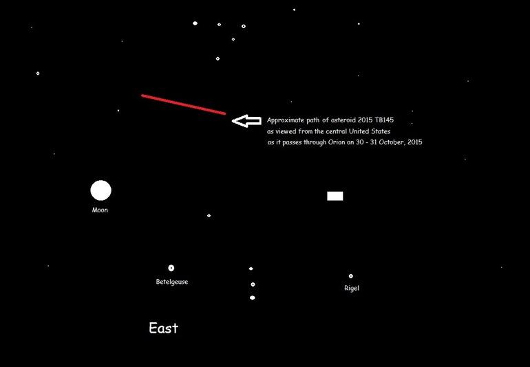 На Хеллоуин рядом с Землей пролетит гигантский астероид