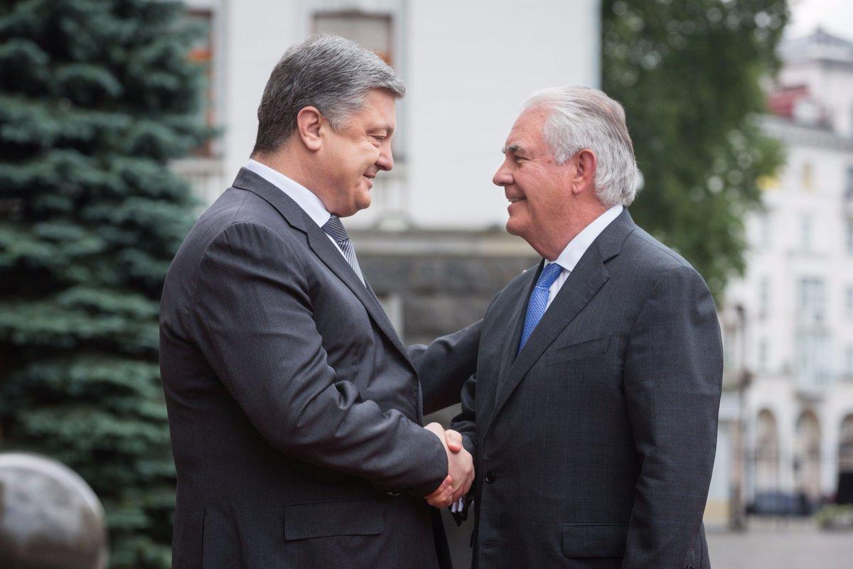 На Банковой началась встреча Порошенко и Тиллерсона: фото и видео