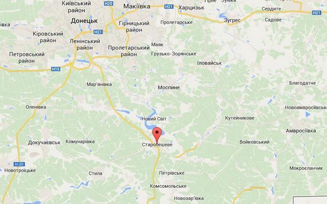 Террористы заняли поселок Старобешево в Донецкой области