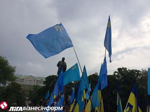 В Киеве почтили память жертв депортации татар из Крыма