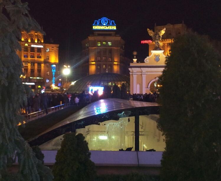 """Беркут"" зверски разогнал Евромайдан. Хроника (фото+ видео)"