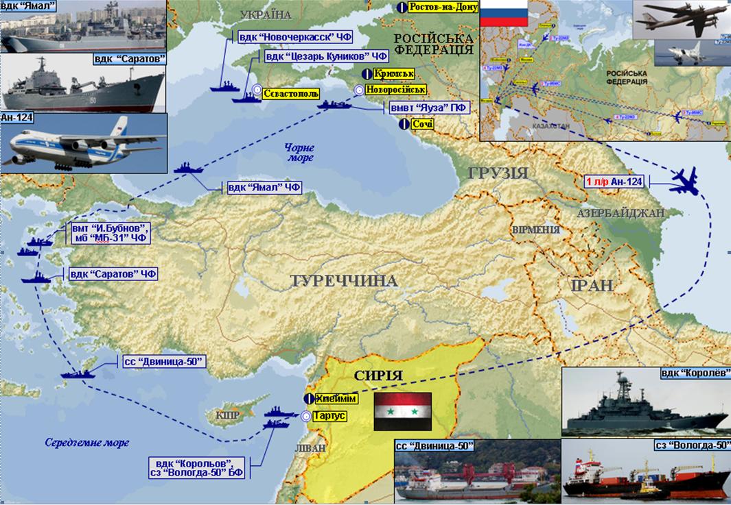 Турция блокирует Босфор, военные РФ не могут покинуть Сирию - ГУР