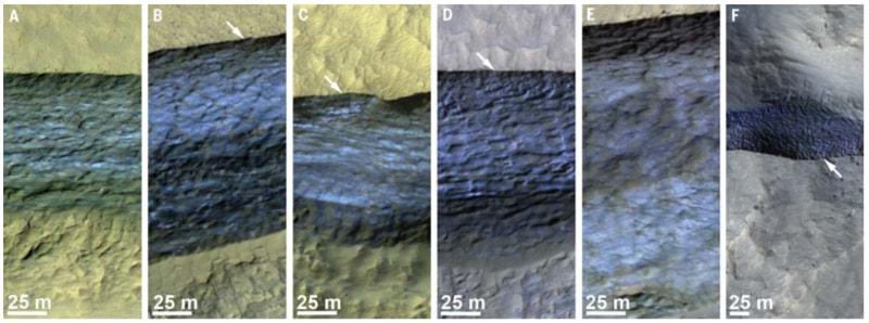 На Марсе обнаружили ледяные утесы с большими запасами воды