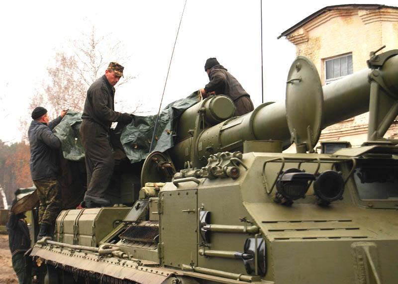 """Украина отправляет в зону АТО 203-миллиметровые гаубицы """"Пион"""""""