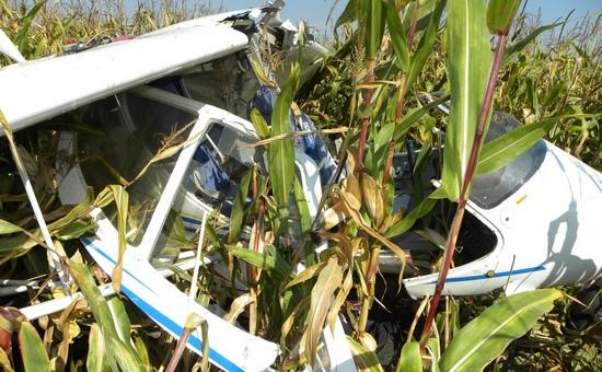 В Черниговской области упал легкомоторный самолет, пилот погиб
