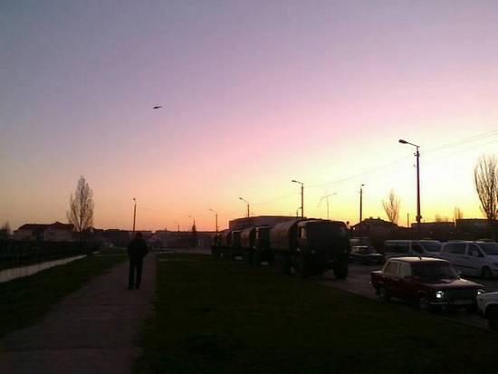 Российские оккупационные войска открыли огонь в Феодосии