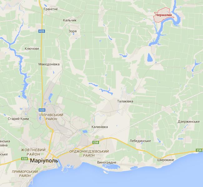 Под Мариуполем обстреляны позиции сил АТО, огонь в ответ не велся