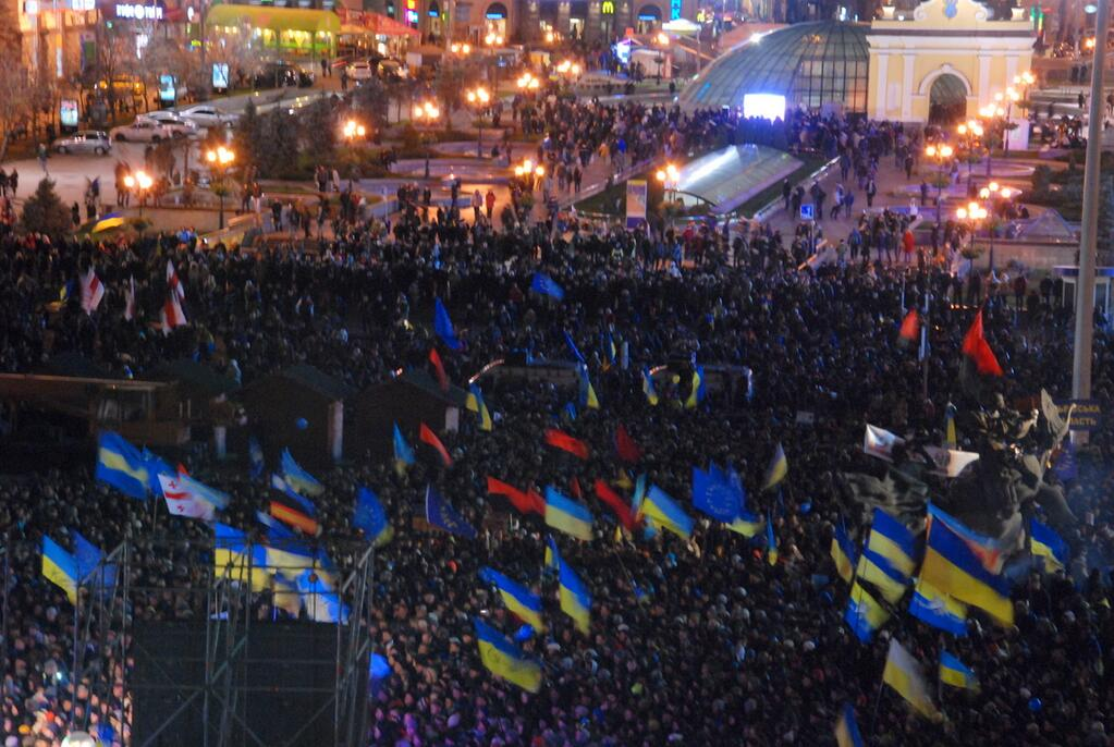 """""""Беркут"""" пролил кровь на Майдане и разогнал митинг: хроника"""